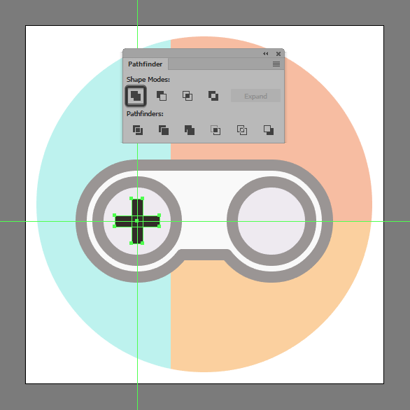 11-creating-and-positioning-the-main-shapes-for-the-controllers-d-pad-button.png