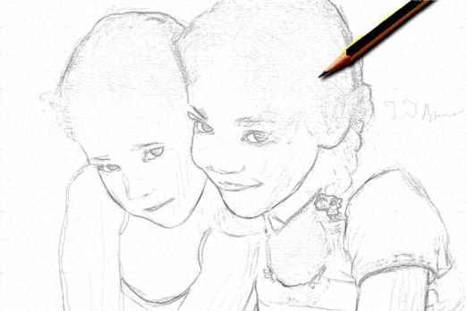 превращение фото в карандашный рисунок